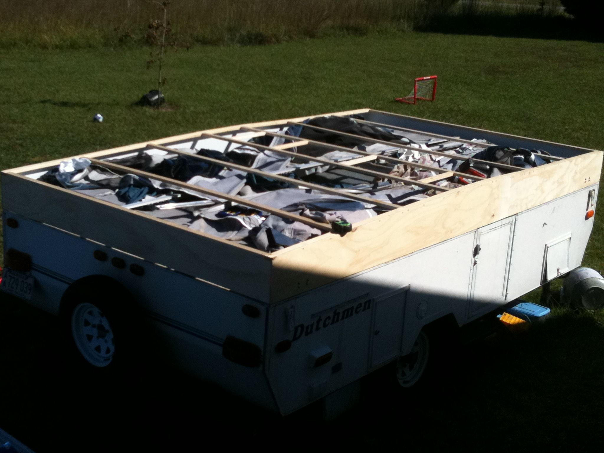 small resolution of new roof build dutchmen popup camper camper ideas pop up trailer kayak