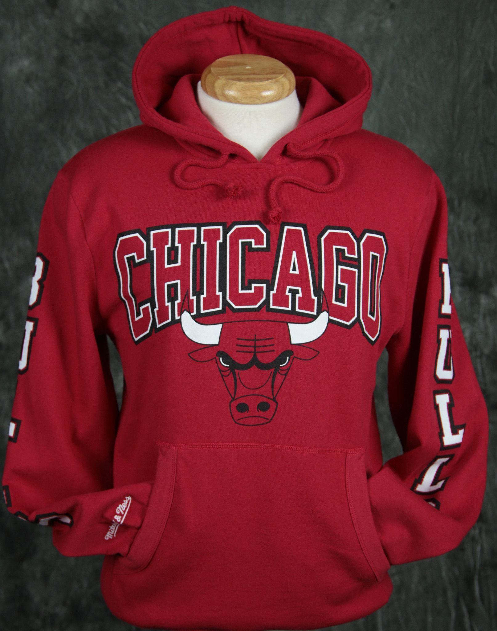Chicago Bulls Mitchell   Ness Visiting Team Pullover Hoody  d94c238c341