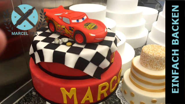 2 stöckige Cars Motivtorte - Cars Torte selber machen