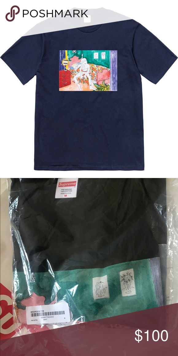 848d40c1528d ... supreme bedroom tee brand new in bag never worn size medium yellow in  color male sizing ...