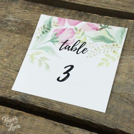 Numero De Table En 2019 Mariage Cactus Numeros De Table Et Table