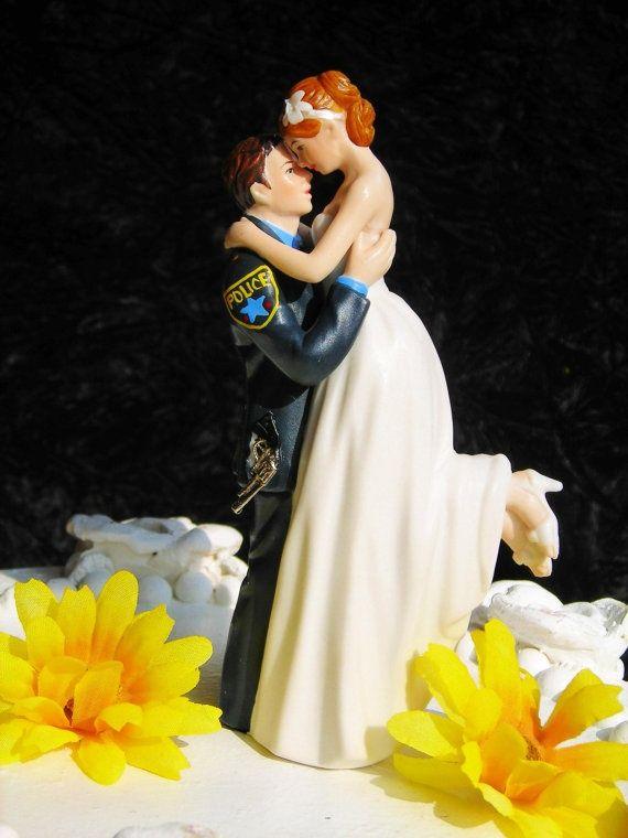 Police Officer COP law enforcement CAKE TOPPER porcelain Wedding by ...