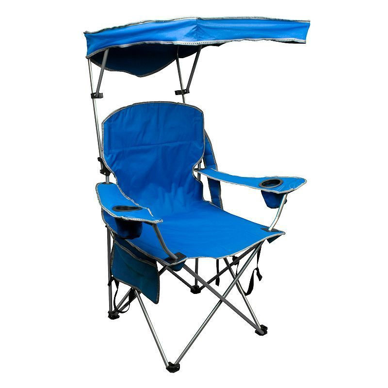 Quik Shade Folding Camp Chair Beach Chair With Canopy