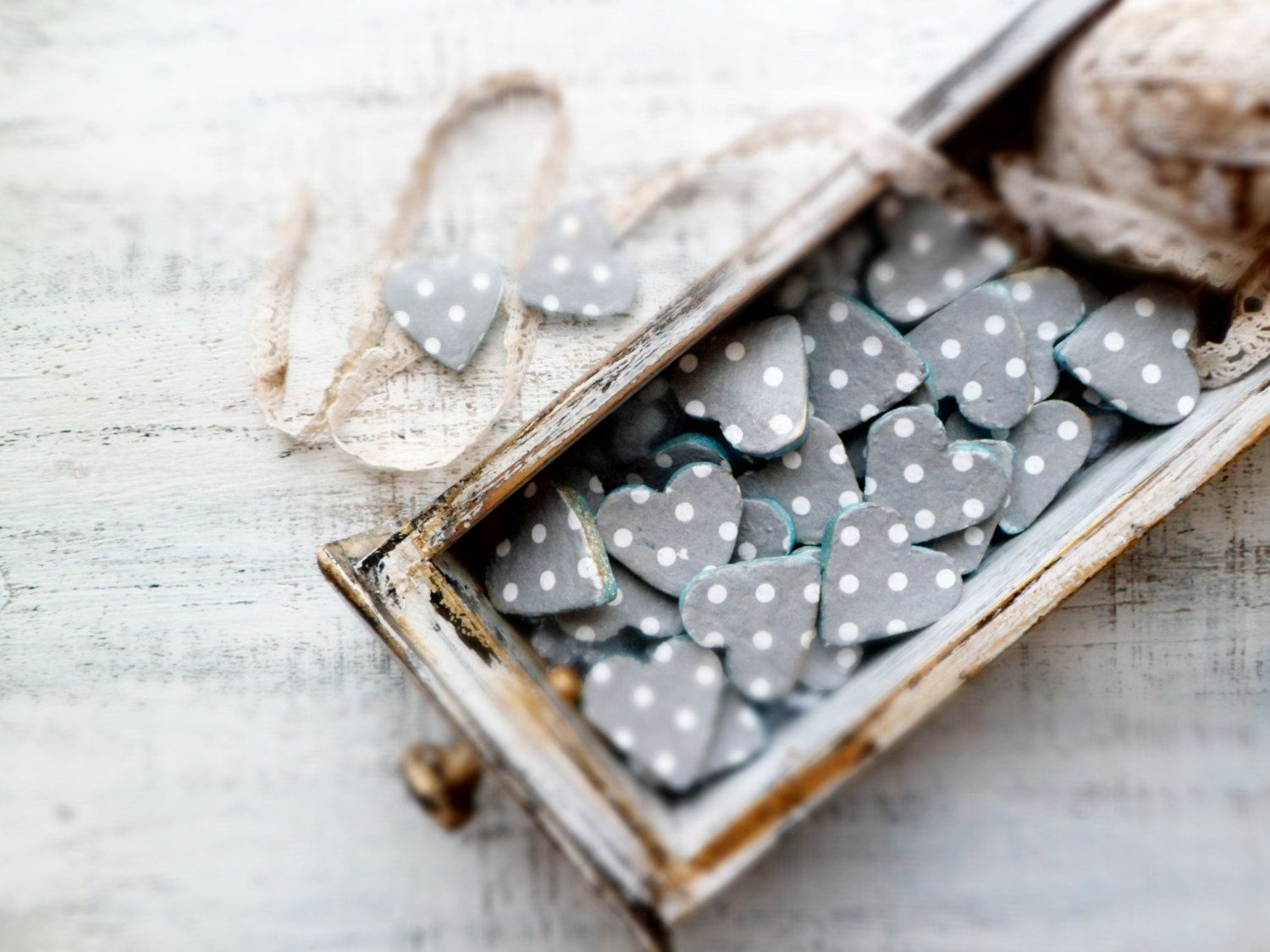 Boho wedding favors heart magnets cottage chic guest favors shabby ...