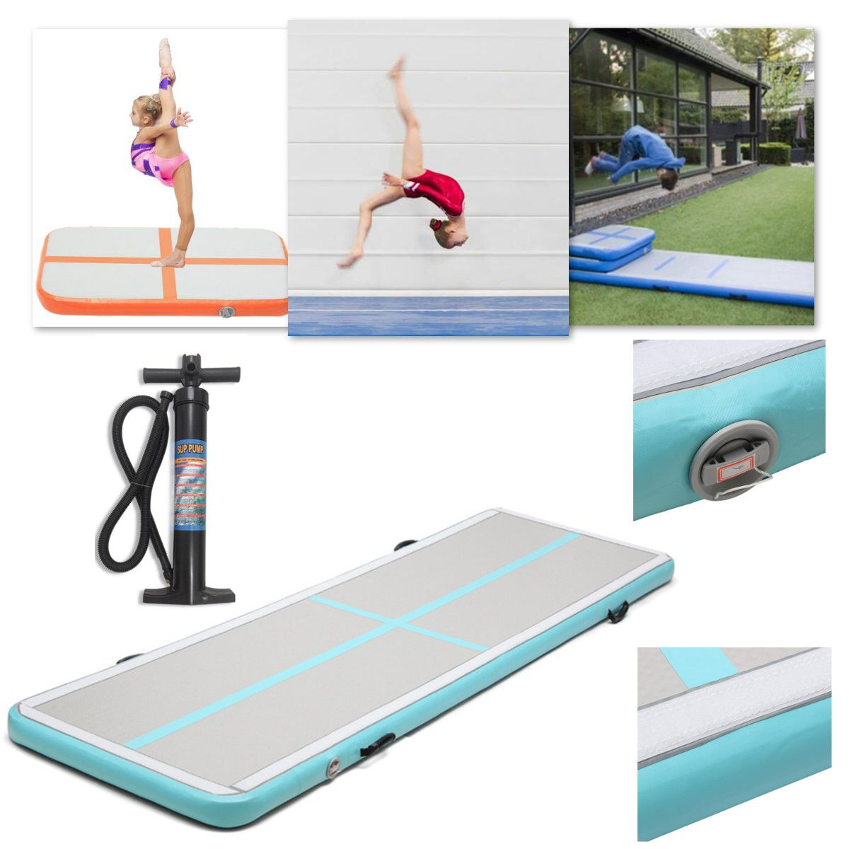 mat track gymnastics floor home pin air for inflatable gym tumbling mats