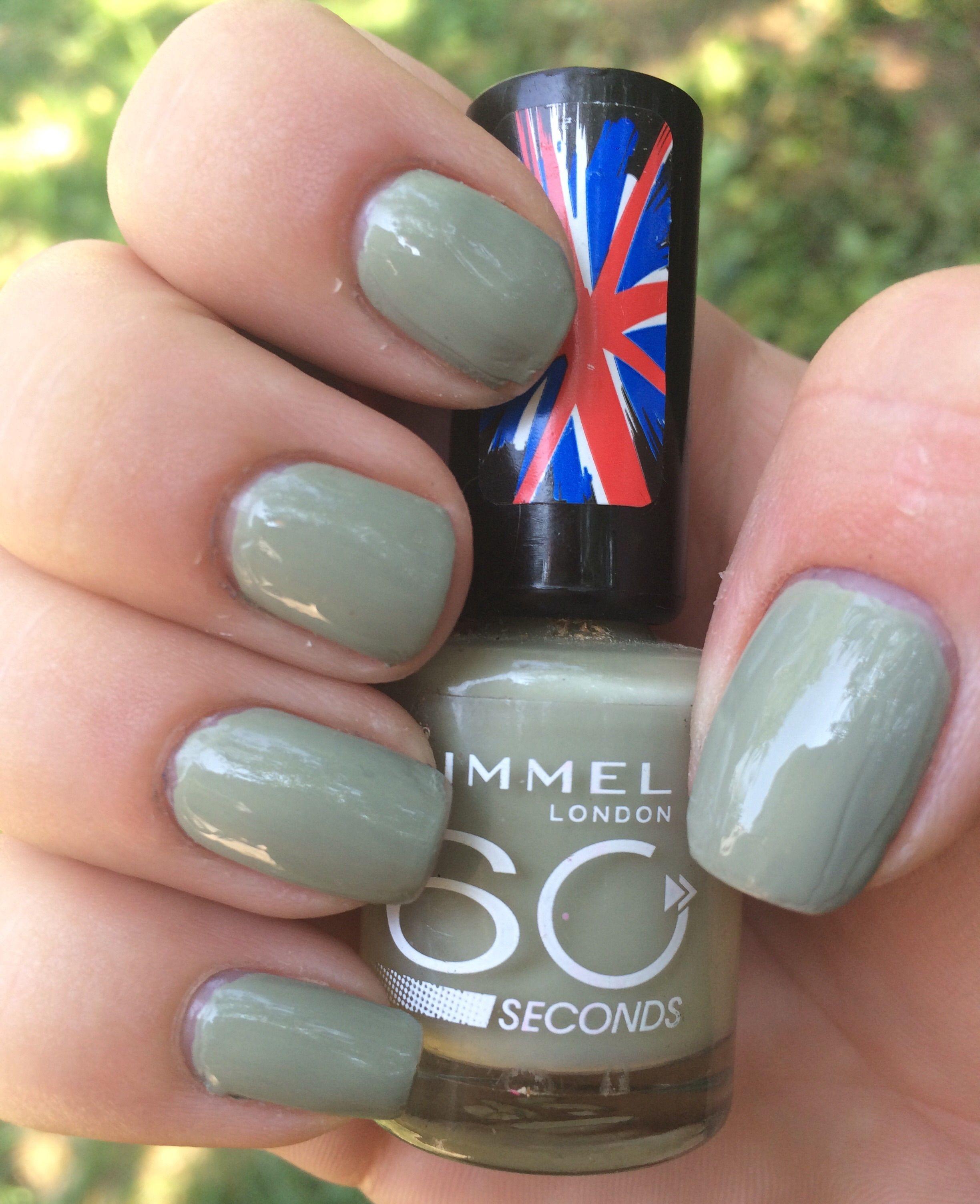44. Rimmel London 60 Seconds: Sage All The Rage #Nails #NailPorn ...