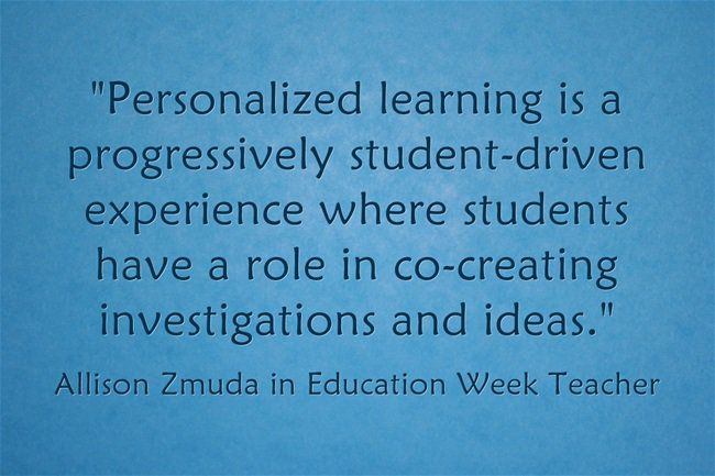 Response Personalized Learning Is A Partnership With Students