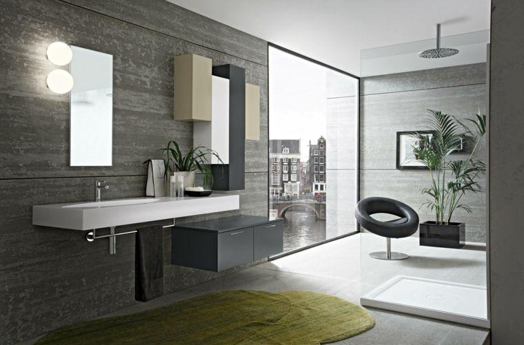 baños-modernos-grandes-gris | costi | Pinterest | Baño moderno ...