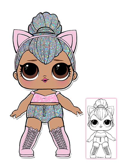Kitty Queen Coloring Page LOL Surprise Doll Coloring