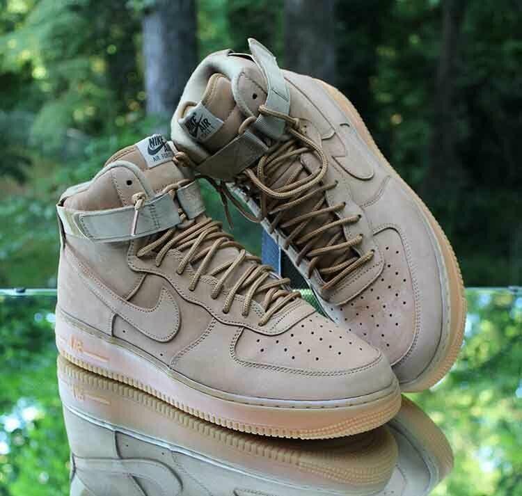 Nike Air Force 1 High 07 LV8 Flax Men's Size 12 Wheat Gum