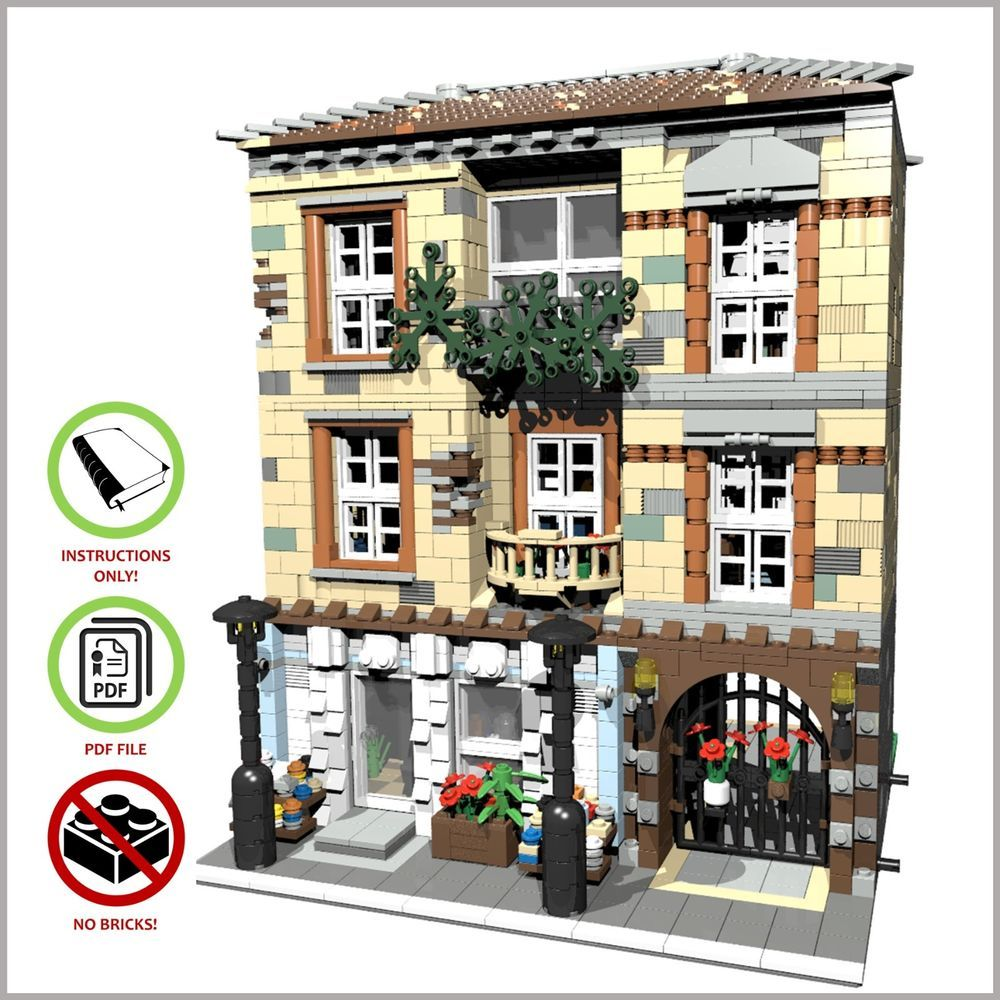 Details about LEGO MOC Modular Florist CUSTOM Model
