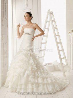 trumpet flare ruffle wedding dress - Google Search