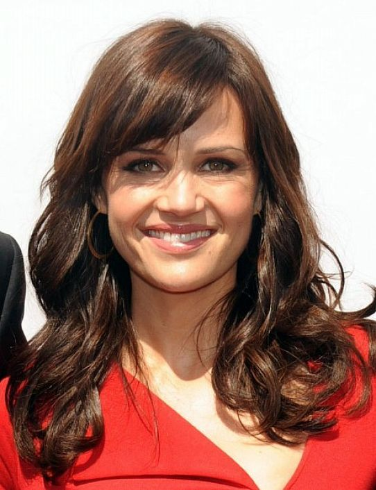 Long Hairstyles With Layers And Side Bangs For Women Oval Face