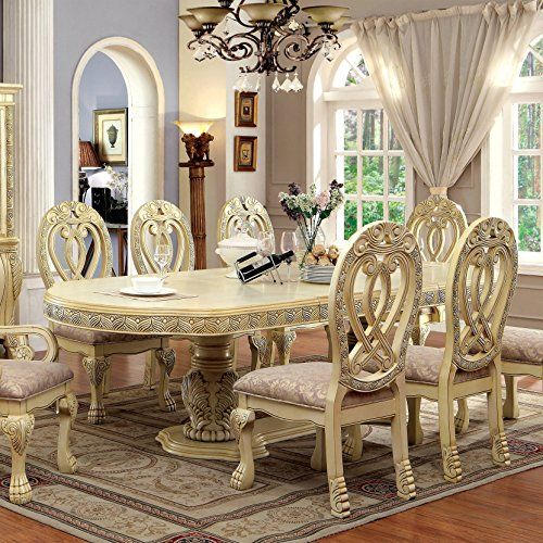 Delicieux Furniture Of America Beaufort Formal 112 Inch Dining Table Cream Off White  Finish | Farmhouse Dining Room | Pinterest