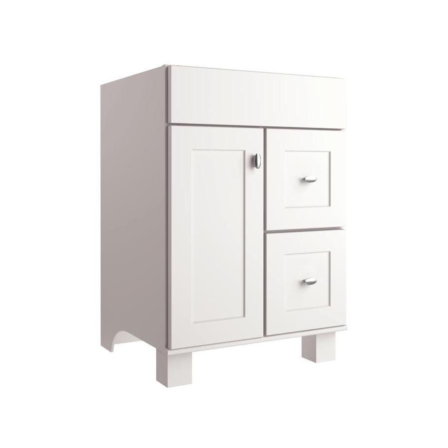 allen + roth Palencia White Transitional Bathroom Vanity at Lowe's Canada - $319 + sink (about $100 - $200)