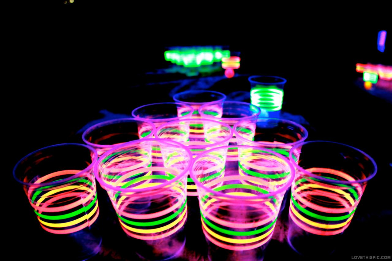 Glowing Neon Drinks drinks party alcohol.