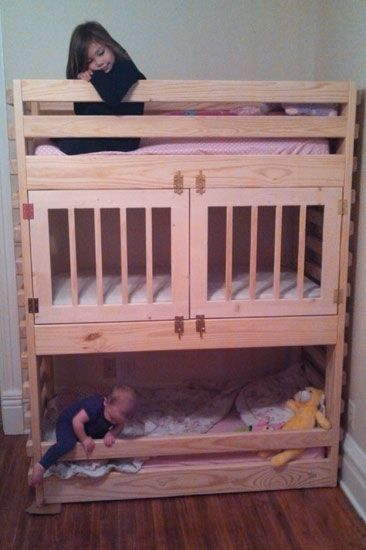 lovely triple toddler bunk bed