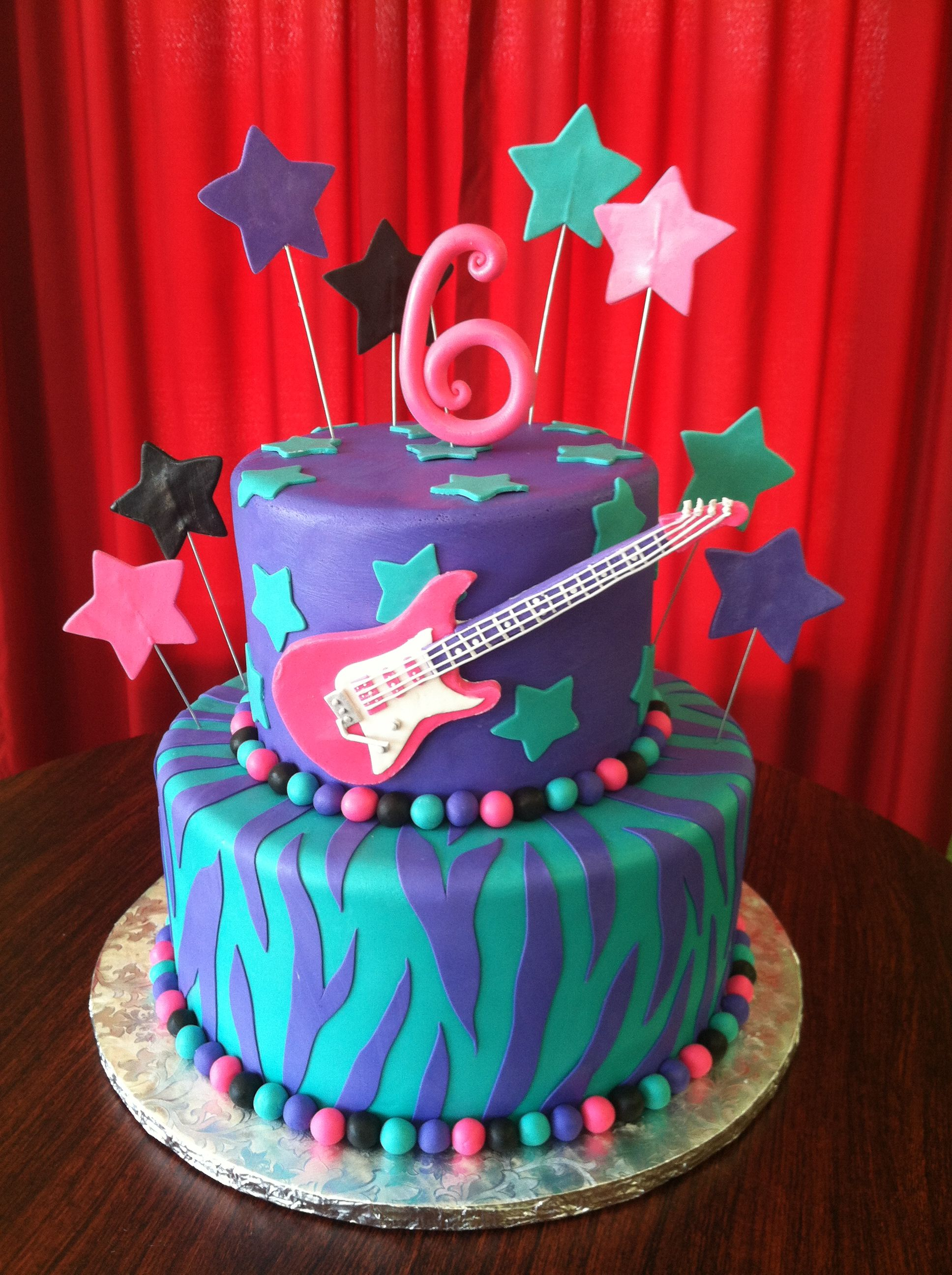 Miraculous Guitar Cake This Is The Cake Anna Is Insisting Upon For Her Funny Birthday Cards Online Kookostrdamsfinfo