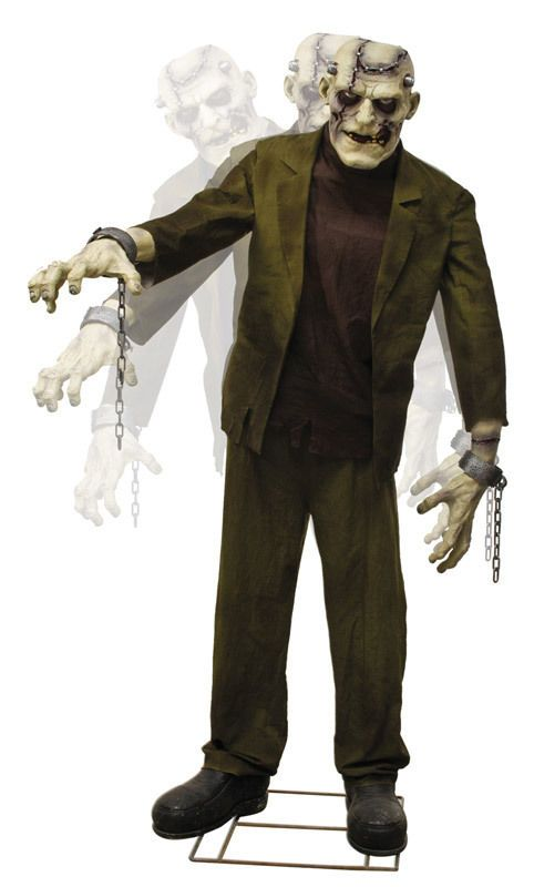 Animated Life Size Frankenstein Monster / Re-animated Corpse - life size halloween decorations
