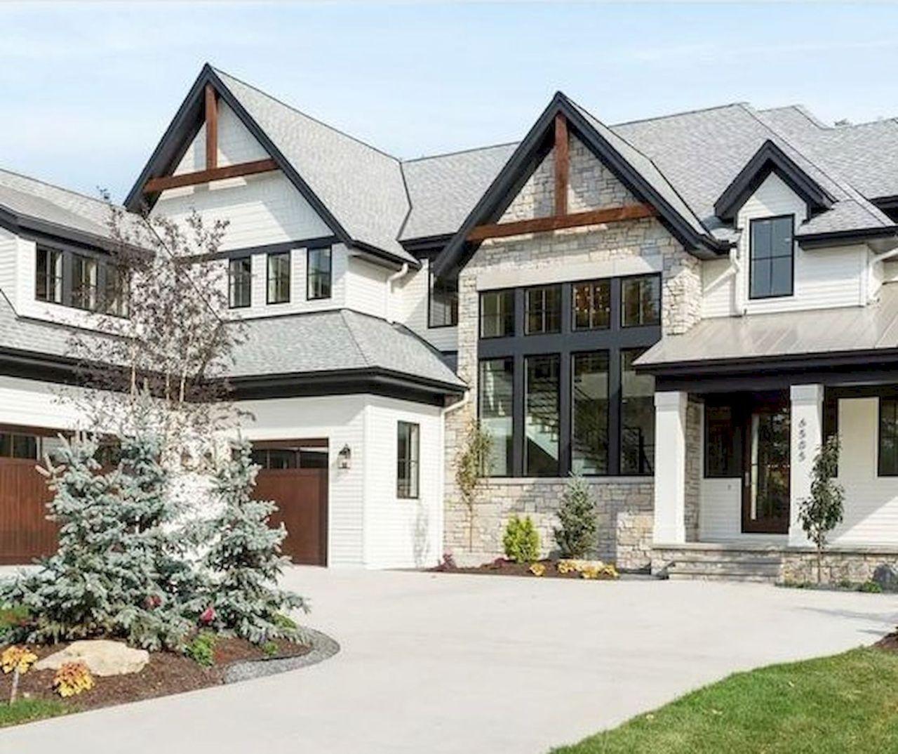 65 Stunning Modern Dream House Exterior Design Ideas (10) - Googodecor #exteriordesign