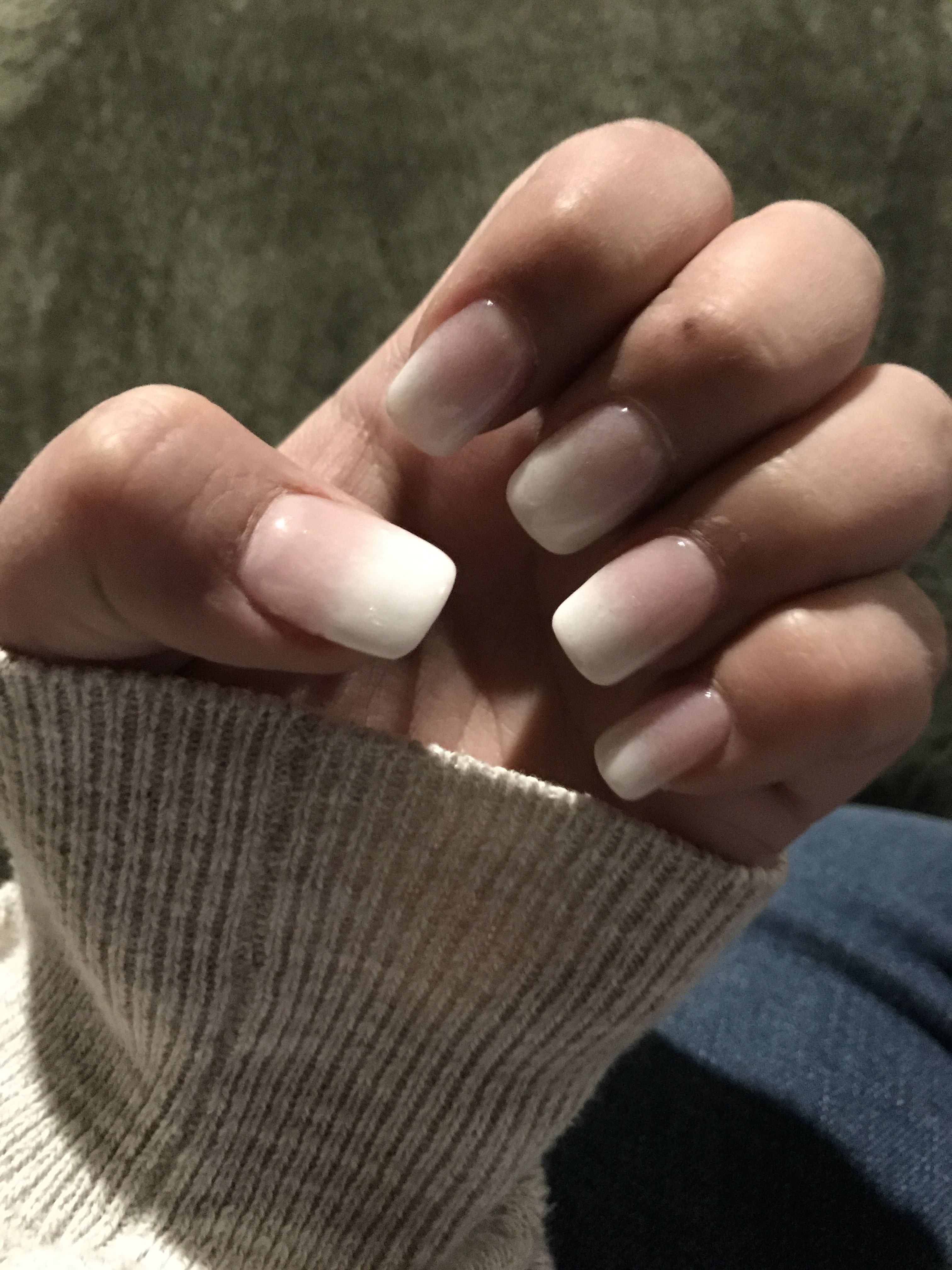 Dip ombré nails! Pink & white!! | Nails ❤ | Pinterest