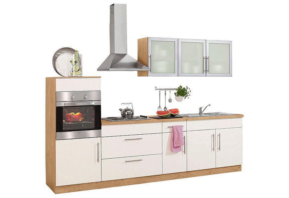 Küchenzeile »Aachen«, mit E-Geräten, Breite 290 cm Jetzt bestellen ... | {Küchenzeile bestellen 24}