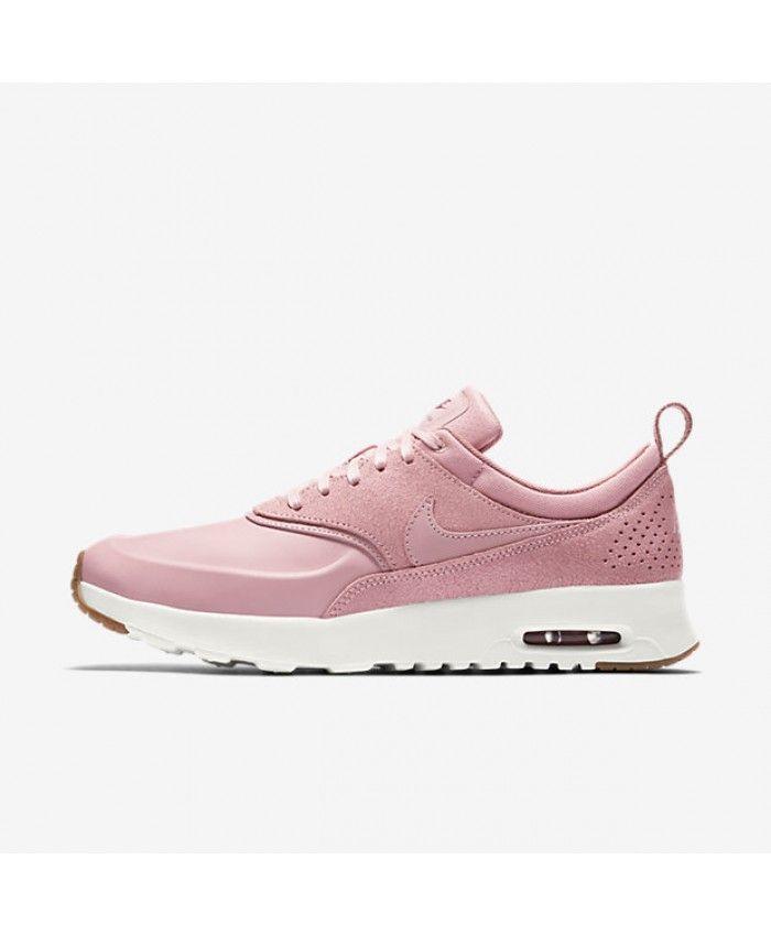 Womens Nike Air Max Thea Premium Pink Glaze Sail Red Stardust Shoe ... 44dd41d782