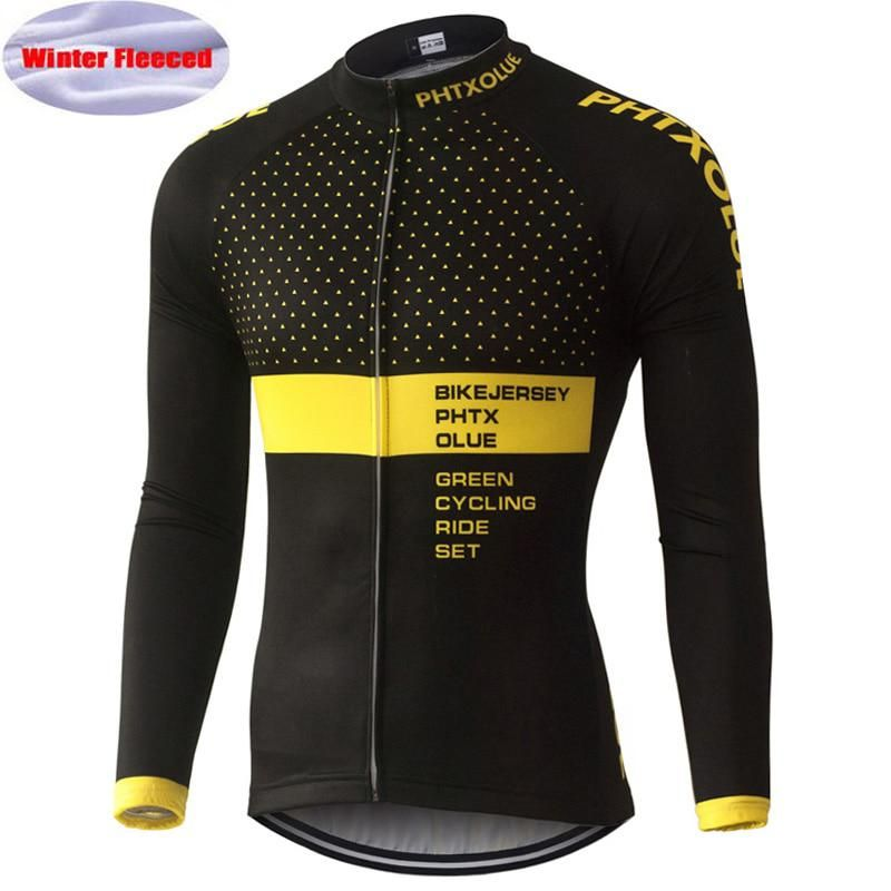 13705586f PHTXOLUE Cycling Jersey Winter Long Sleeve Bike Clothes Thermal Fleece Roupa  De Ciclismo Invierno Hombre MTB