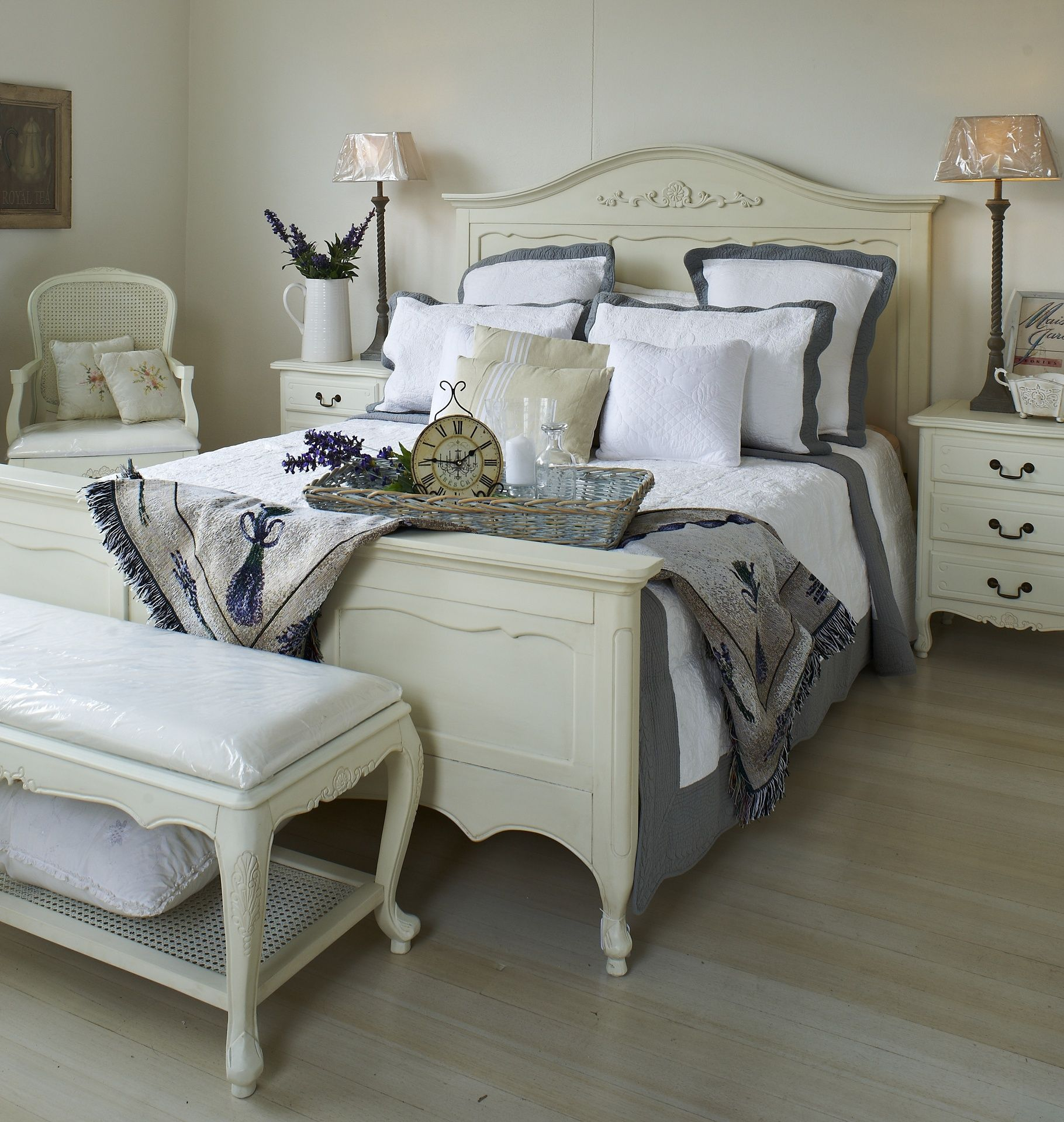 of white french country inspirational bedroom home style furniture