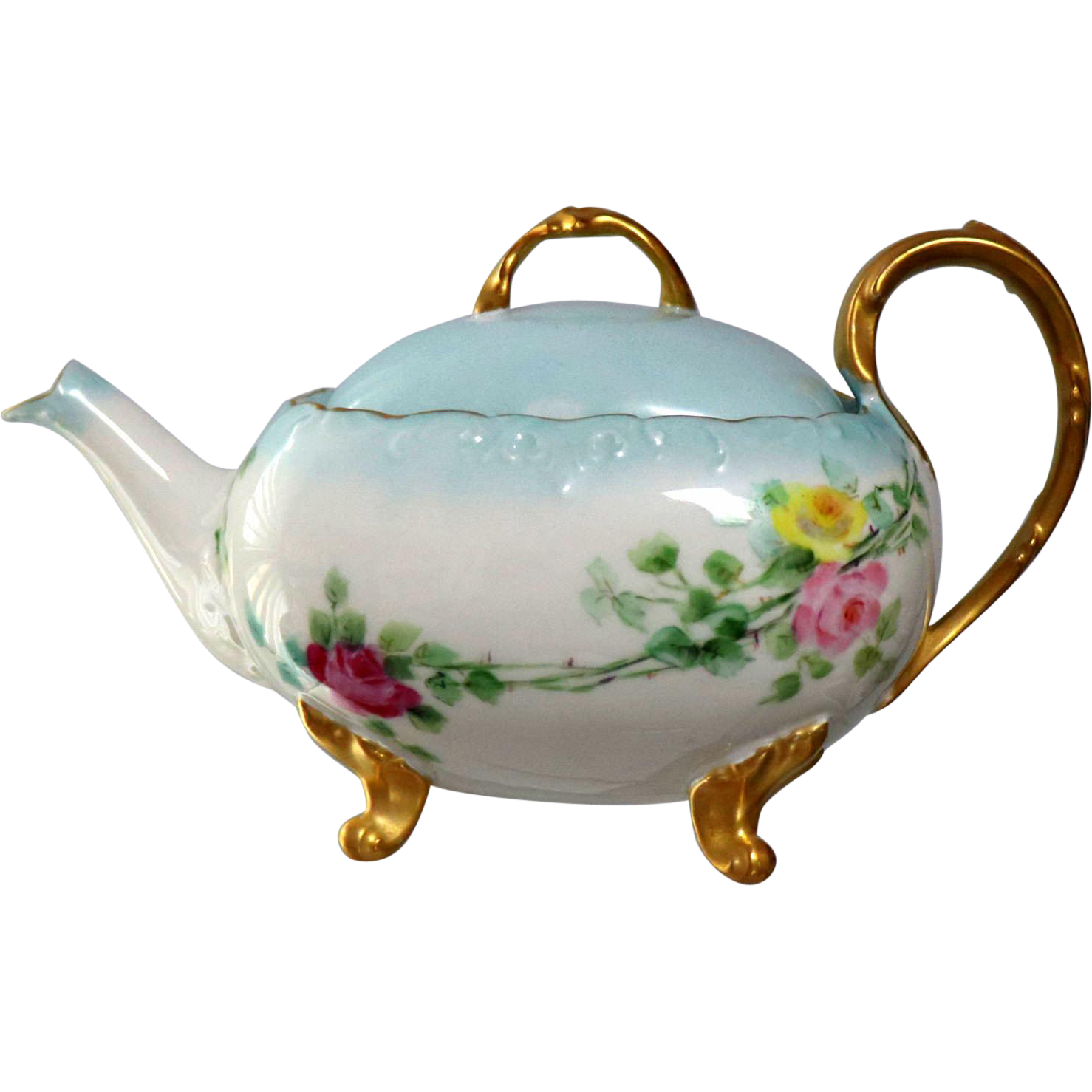 Limoges Hand Painted Rose Tea Pot | Rose tea, Tea pots and Teas