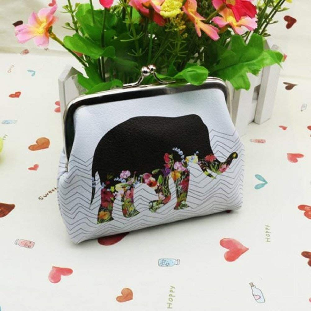 Coin Purse Flower Pattern Coin Pouch With Zipper,Make Up Bag,Wallet Bag Change Pouch Key Holder