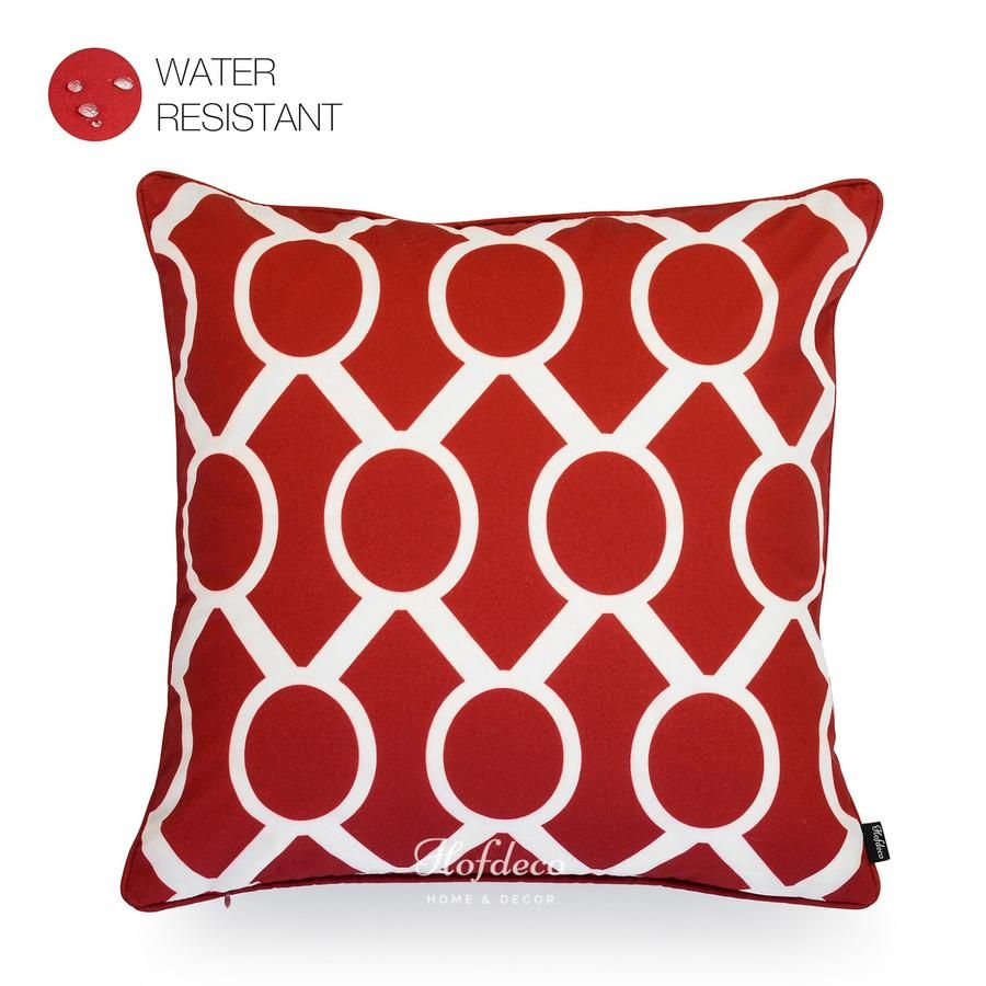 Red sydney chain link outdoor pillow cover