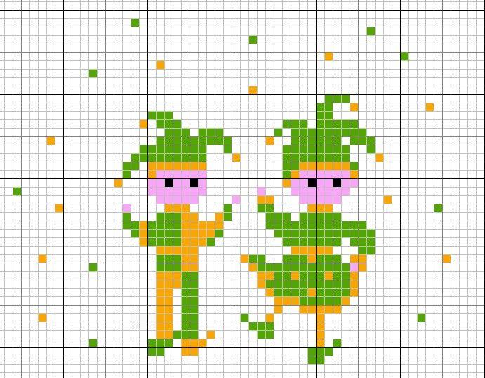 Jester Elves | Crochet ideas | Pinterest | Punto de cruz y Puntos