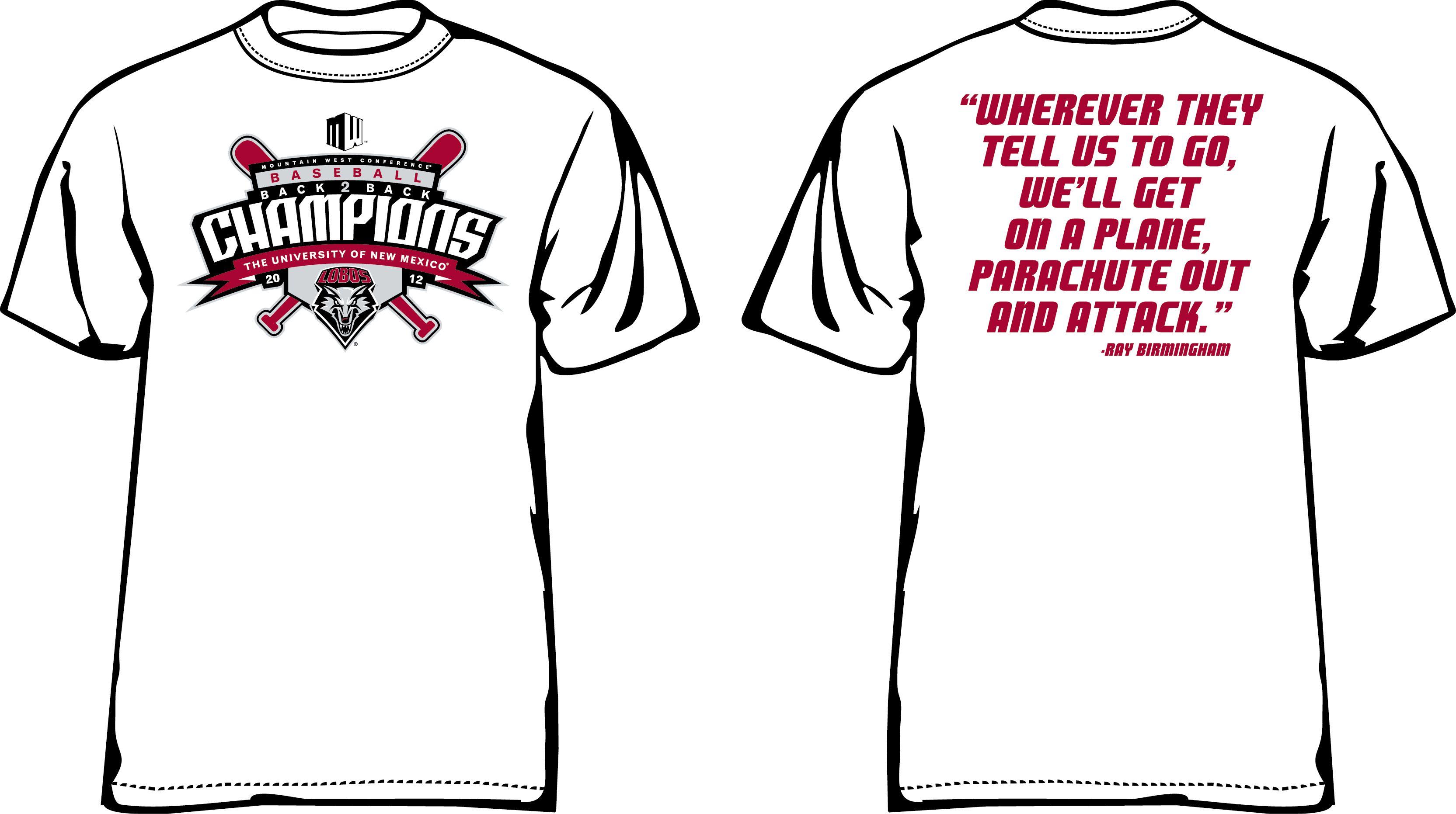UNM Lobo Baseball Mountain West Champs T-shirts
