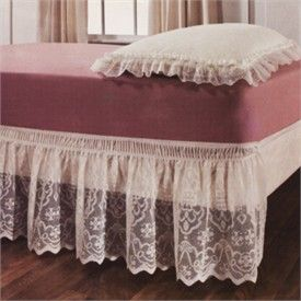 Lace Elastic Wrap Around Bed Ruffle Bedskirt Dust Ruffles By