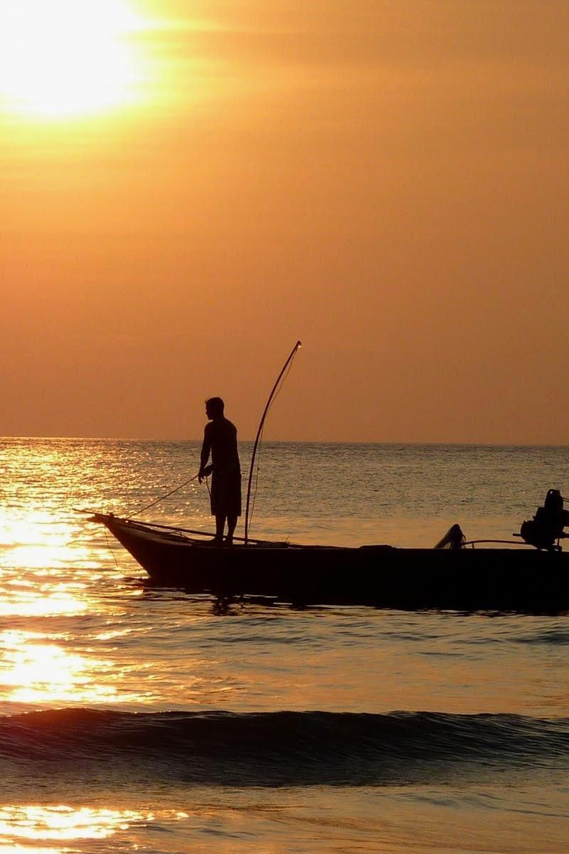 Fishing. Sport fishing just for fun is a fantastic