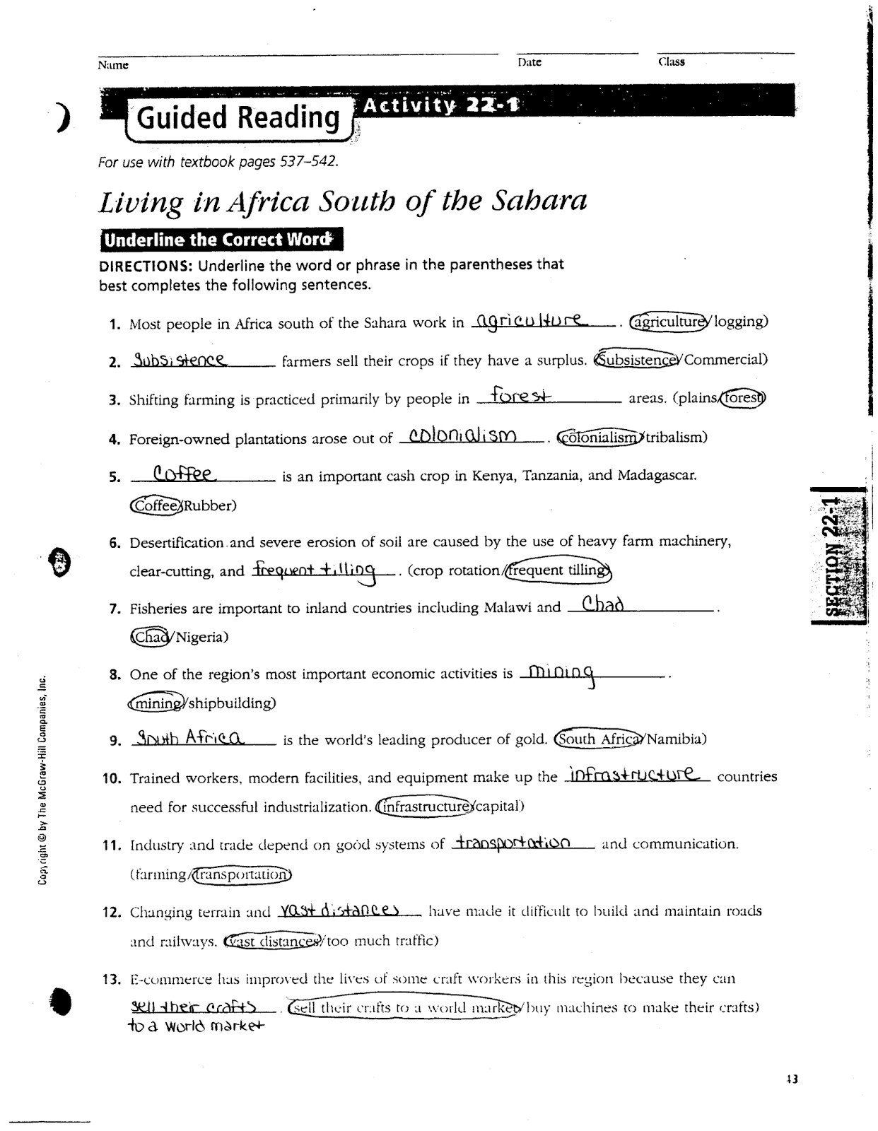 3rd Grade Economics Worksheets Social Stu S China