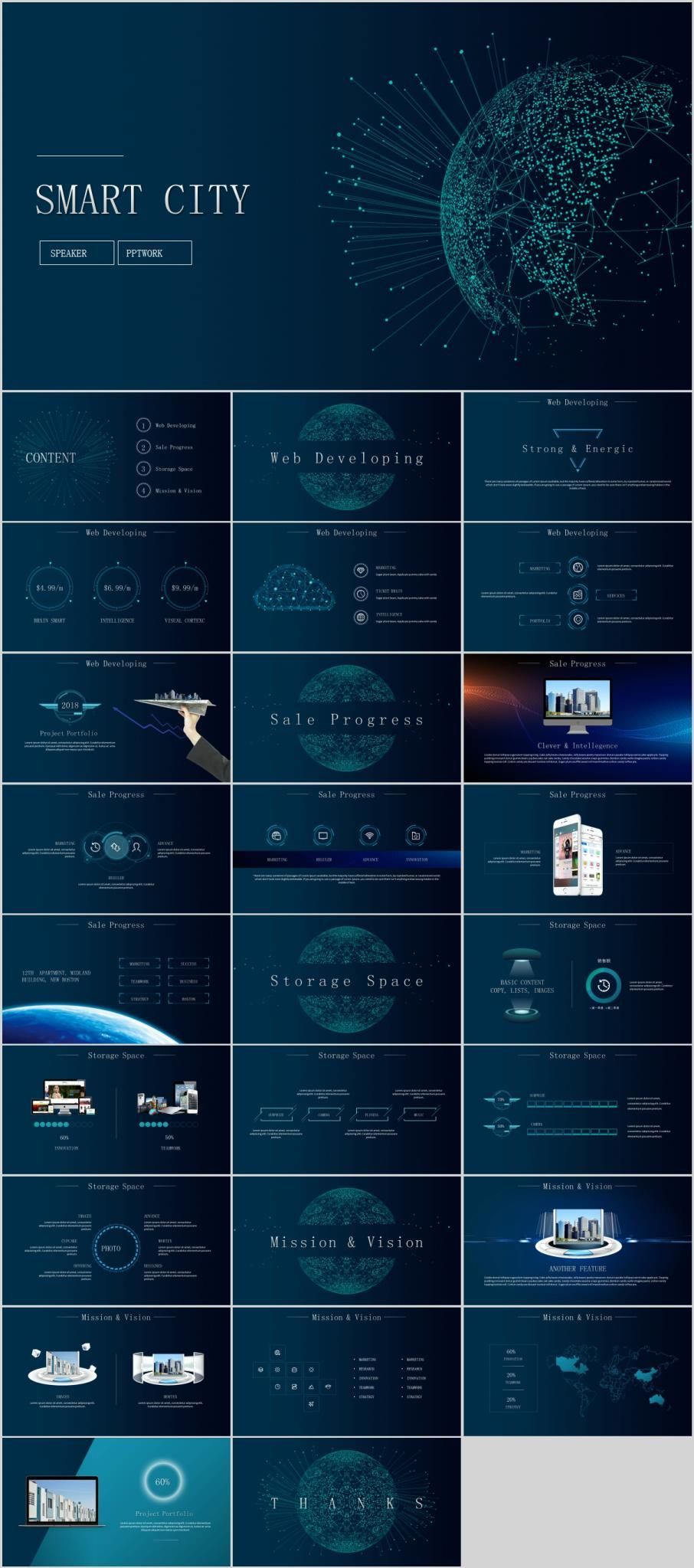 Best Smart Technology Powerpoint Template Premium Powerpoint