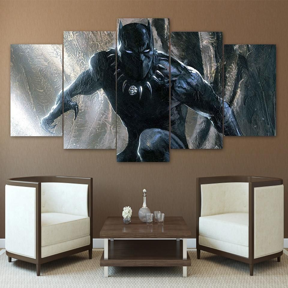 Black Panther Poster 7 Marvel Canvas Wall Art Marvel Canvas