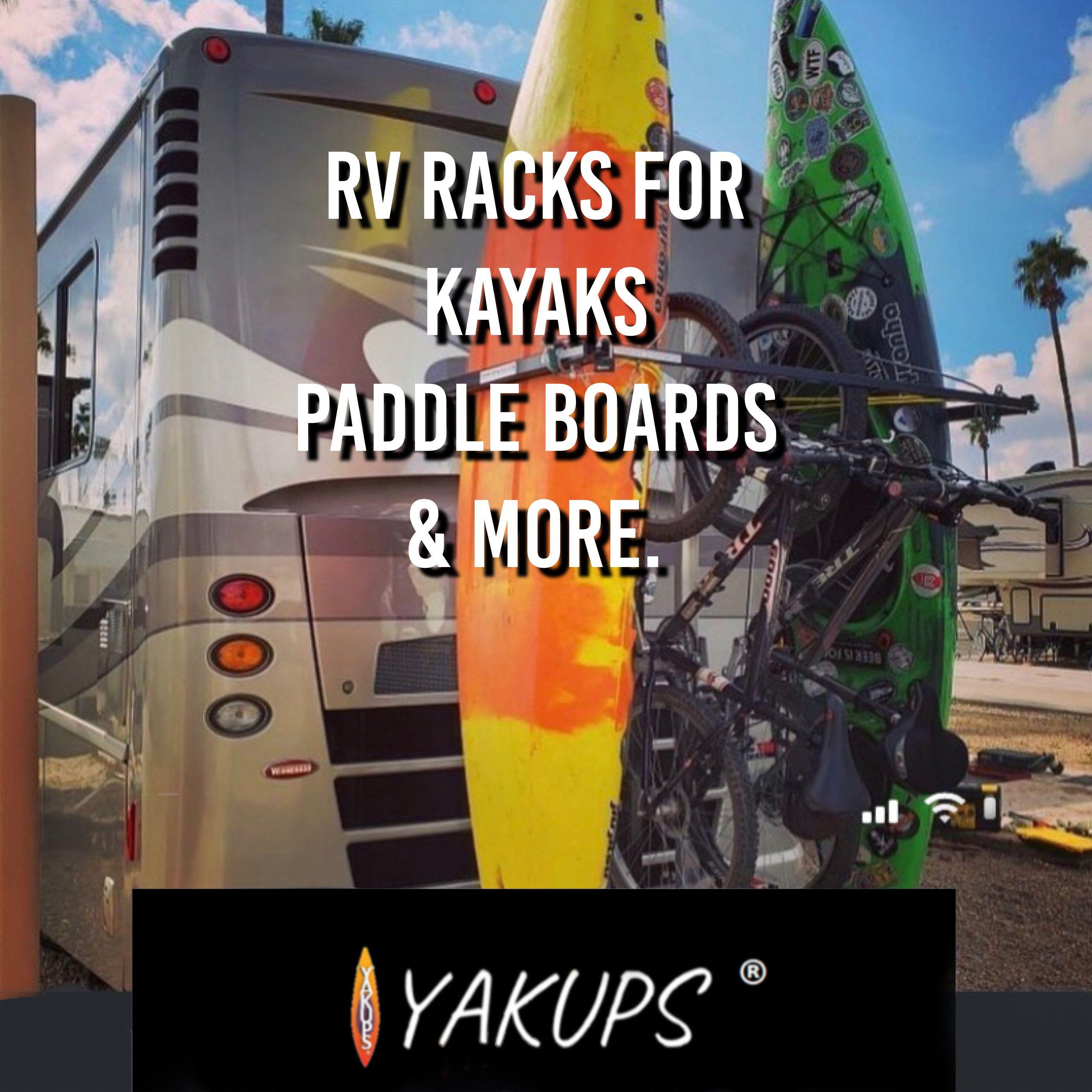 Yakups Rv Rack For Kayaks Paddle Boards More In 2020 Travel Trailer Camping Camping Rv Living Kayaking