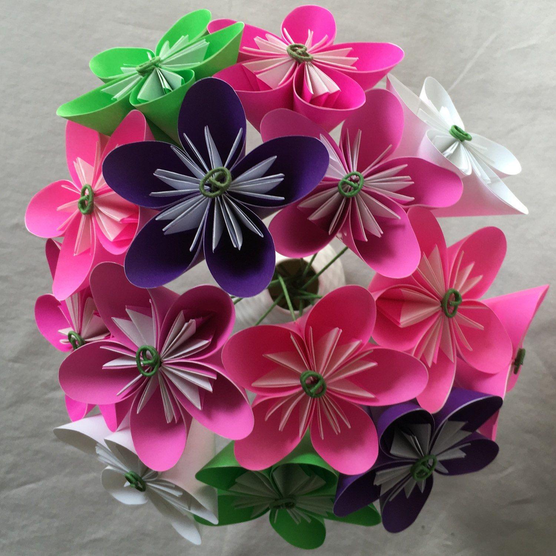 Custom Paper Flower Bouquet Anniversary Gift Valentines Day