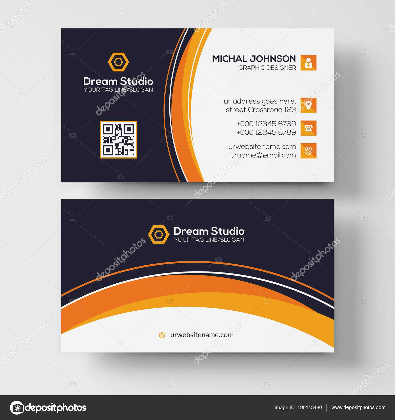 Download Business Card Vector Template Stock Illustration
