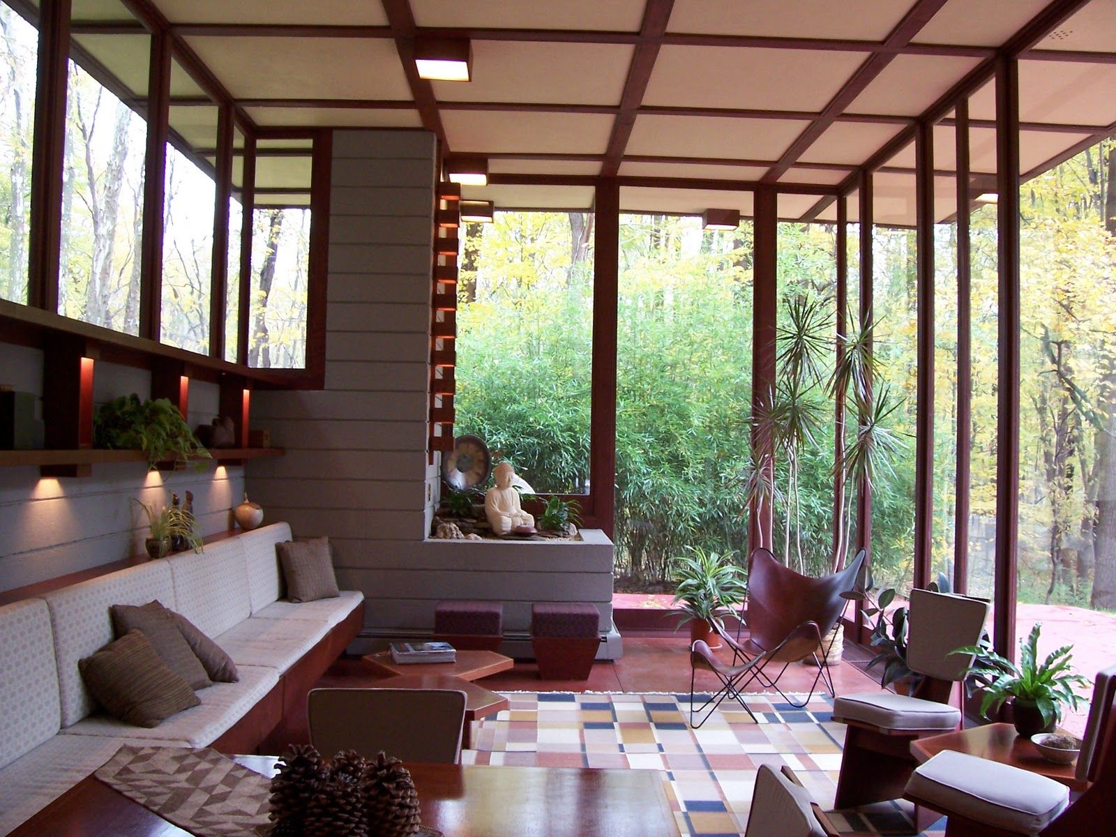 Louis penfield house 1955 willoughby hills cleveland ohio usonian style frank lloyd wright for Commercial interior design cleveland