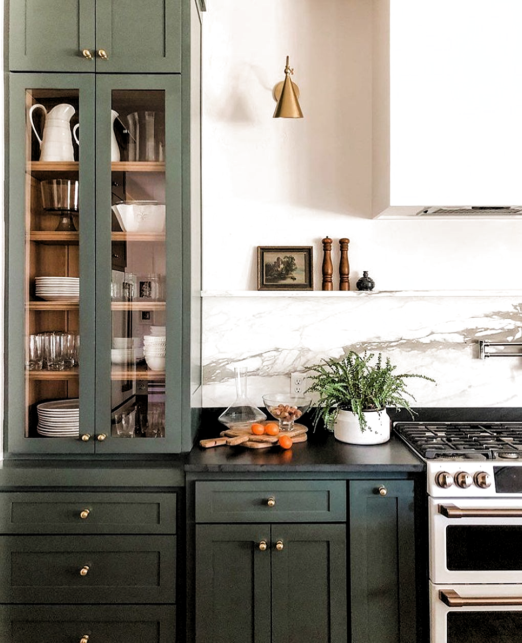Scoutandnimble On Instagram Give Us All The Moody Greens Absolutely Loving This Kitchen In 2020 Kitchen Interior Green Kitchen Cabinets Diy Kitchen Remodel