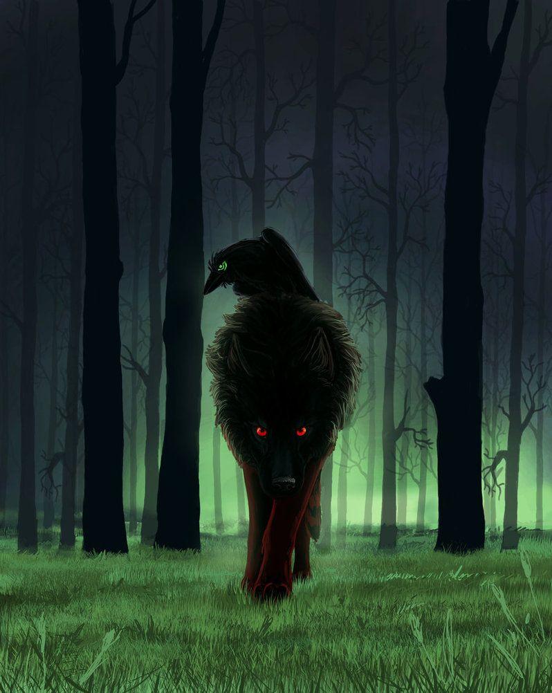 только, картинки волки с воронами можно