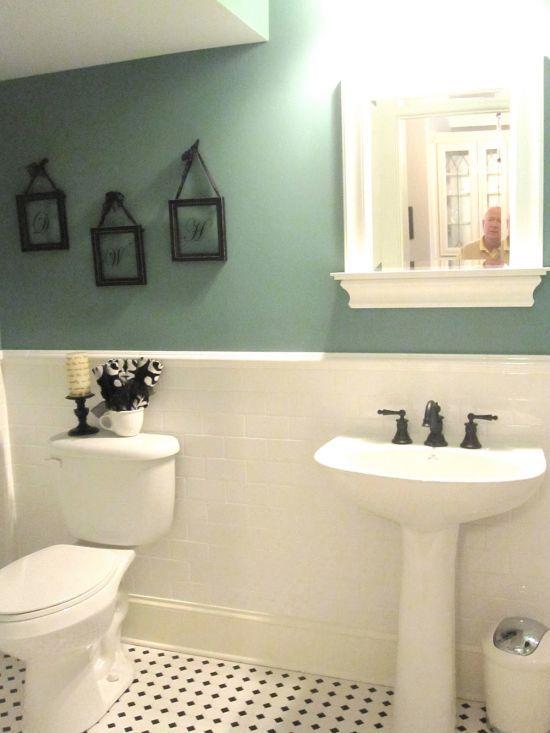 20 Ideas For Bathroom Wall Color: 15 HALF PAINTED WALL DECOR IDEAS