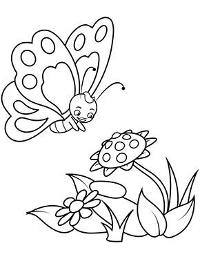 Ausmalbild Schmetterling Und Blume In 2020 Ausmalbilder Schmetterling Ausmalbilder Schmetterling Ausmalen
