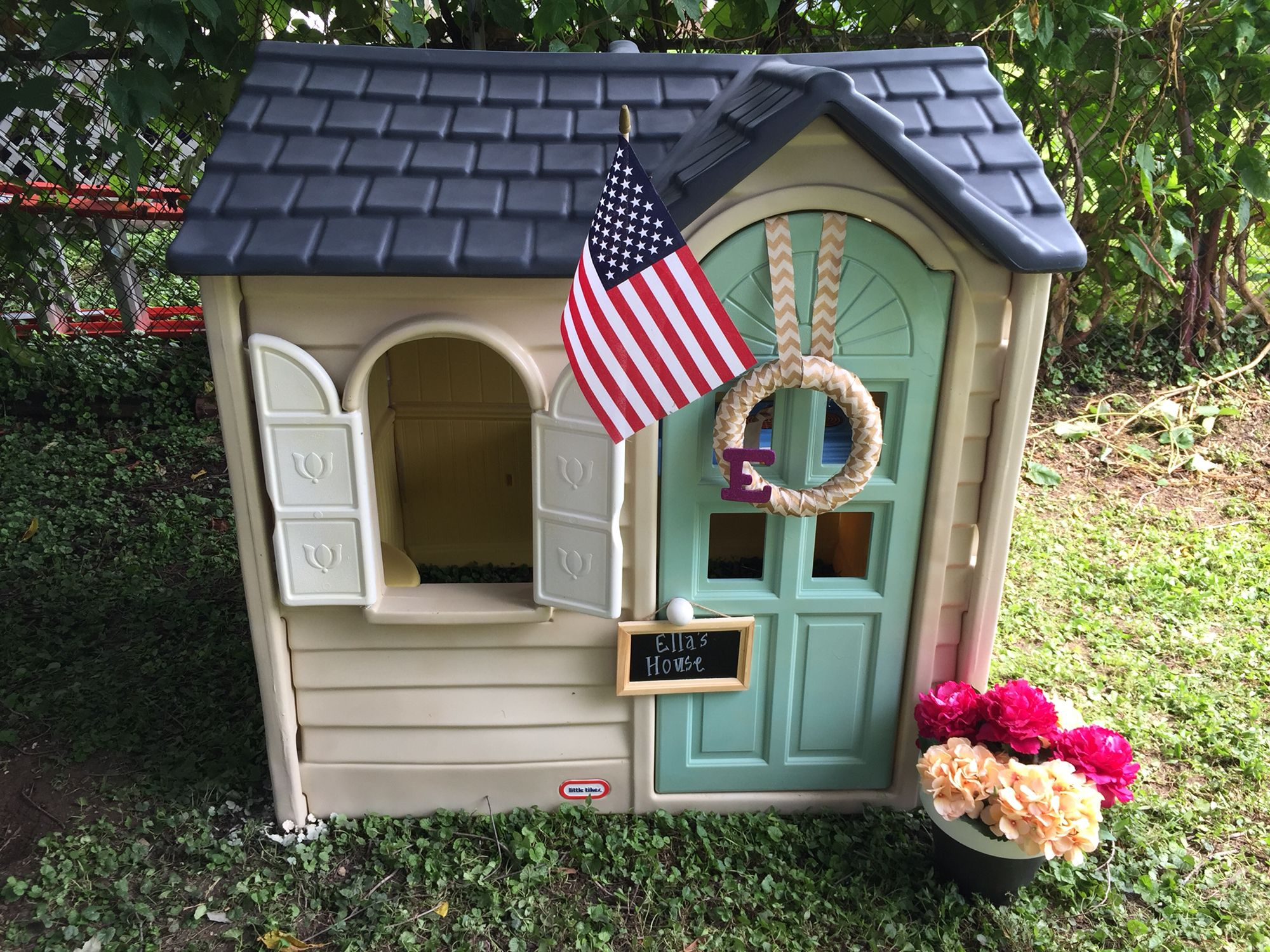 Our little tikes playhouse remodel