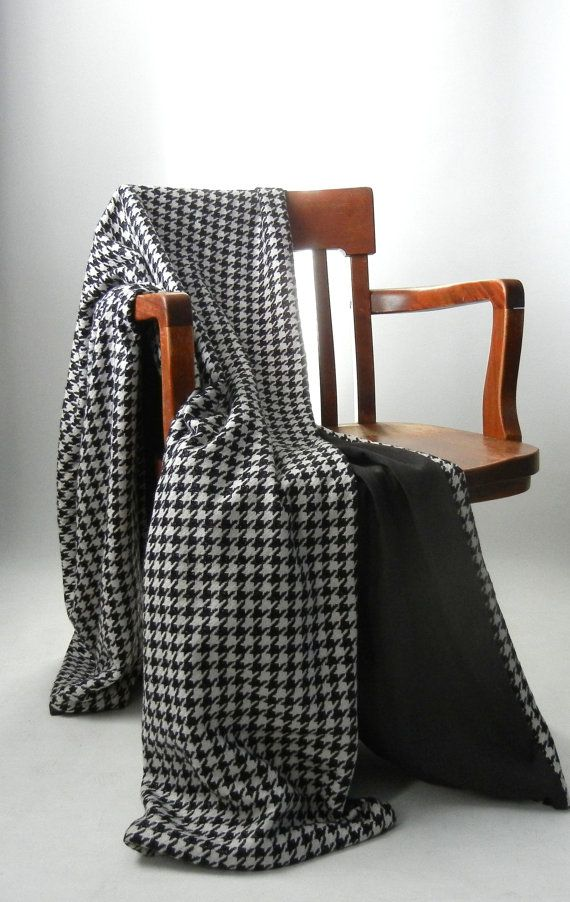 Black And White Houndstooth Wool Throw Blanket Pinterest New Black And White Houndstooth Throw Blanket