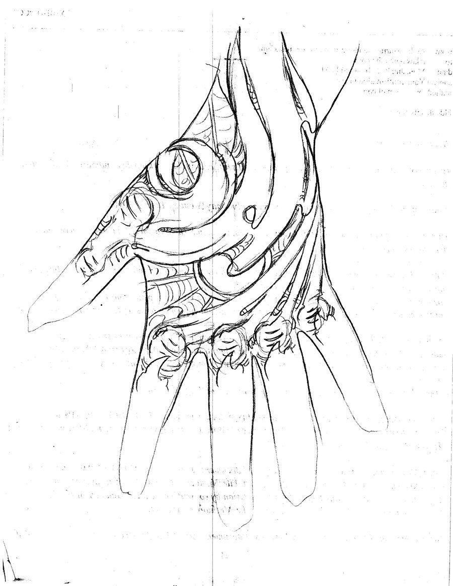 Hand Tattoo Sketch- Bio-mechanical 1 by TattooMasterZAO.deviantart.com on @deviantART
